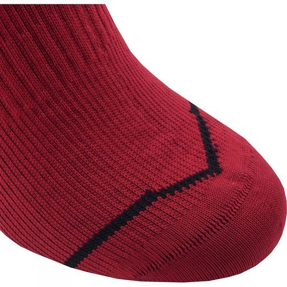 SealSkinz Road Thin Mid Socks with Hydrostop Red/Black