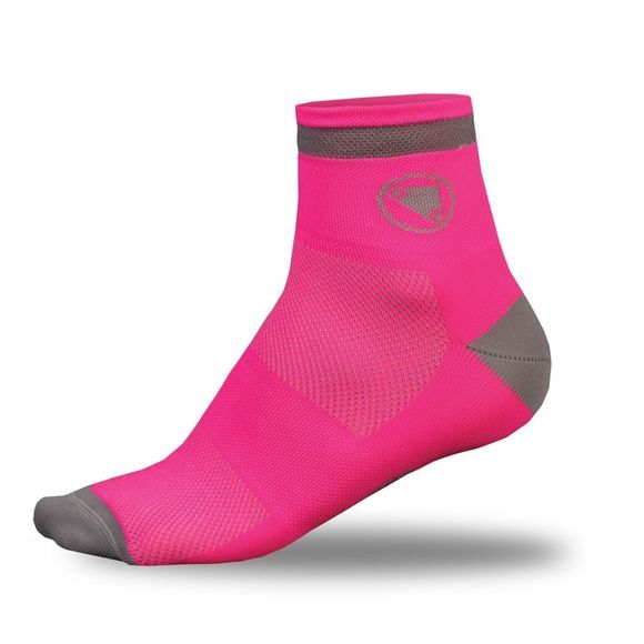 Endura Womens Luminite Socks (Twin Pack) Hi-Viz Pink