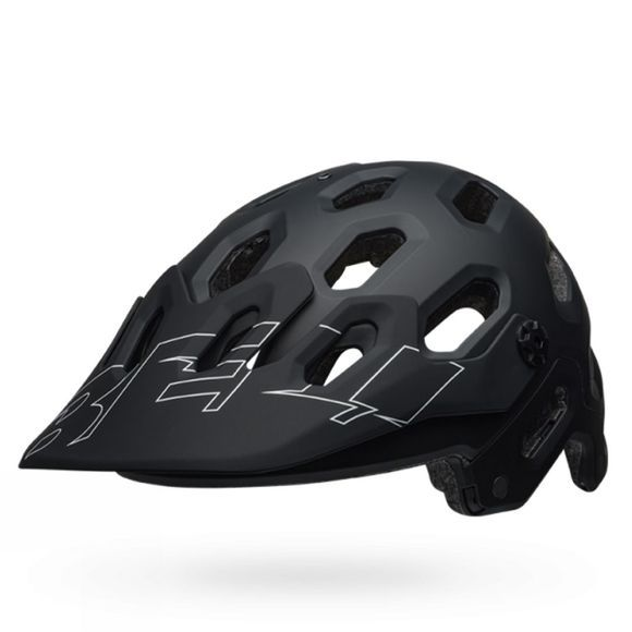 Bell Mens Super 3 Bike Helmet Matte Black / White
