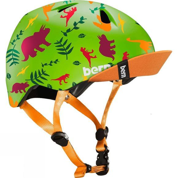 Bern Tigre Dino Helmet w/ Visor and Magnetic Clip Satin Green