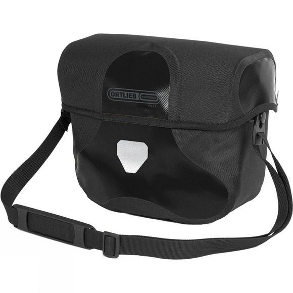 Ortlieb Ultimate6 Black 'n' White Handlebar Bag Medium Black