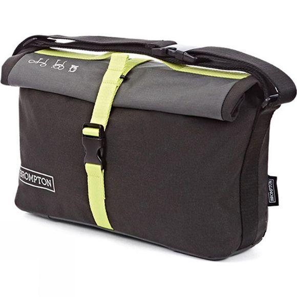Brompton Roll Top Bag Grey/Black/Lime Green