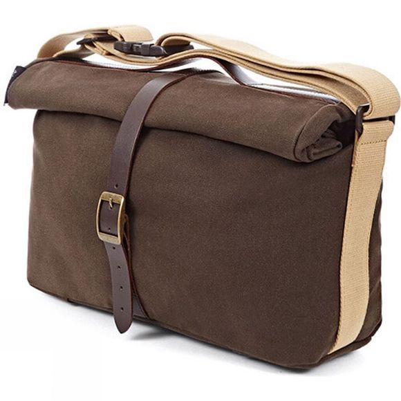 Brompton Waxed Roll Top Bag Brown