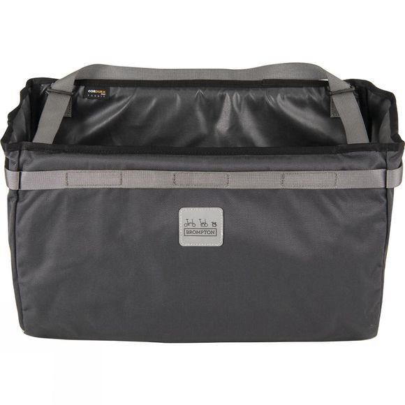 Brompton Borough Basket Bag - Large 23L Dark Grey