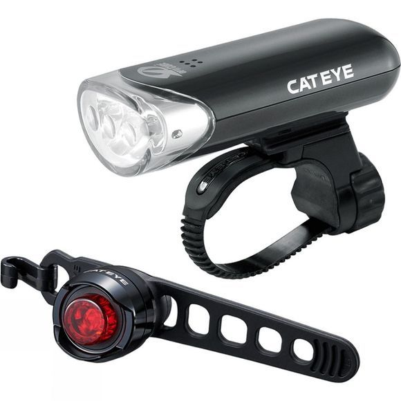 Cateye EL135 & ORB Front & Rear Light Set Black