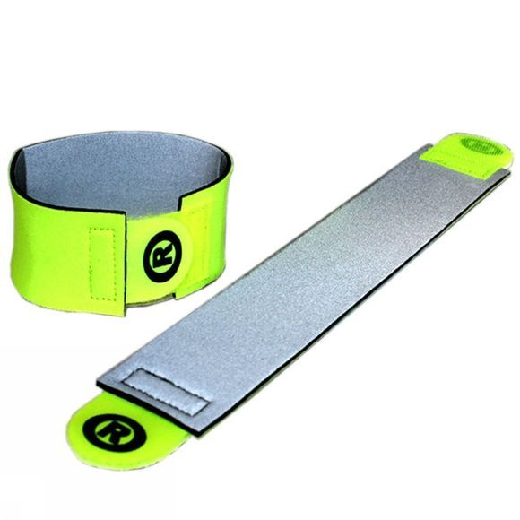 HUMP Hi Viz ?Ankle/Wrist Band Silver/Yellow