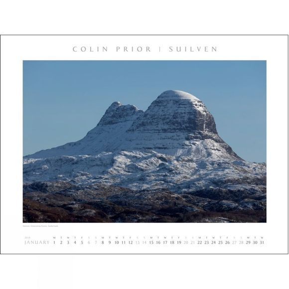 Colin Prior Scotland Panoramic Wall Calendar 2018 No Colour