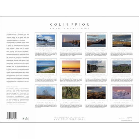 Colin Prior Scotland Panoramic Wall Calendar 2019 No Colour