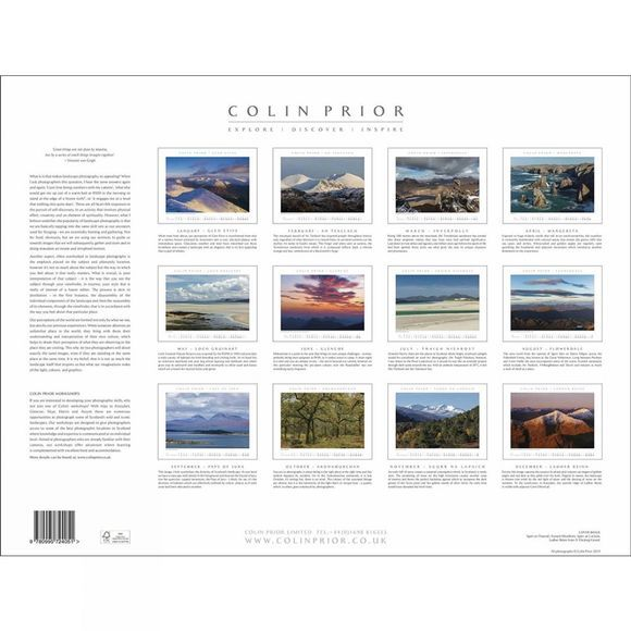 Colin Prior Scotland Wall Calendar 2020 .