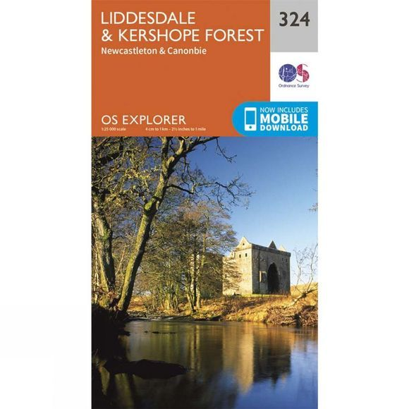 Explorer Map 324 Liddesdale and Kershope Forest