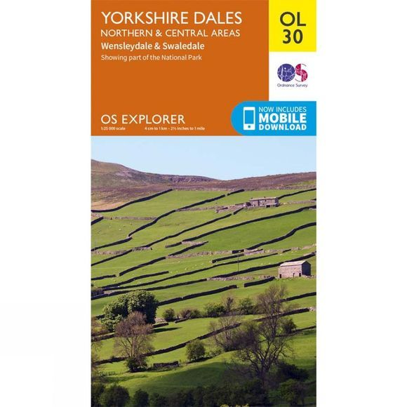 Ordnance Survey Explorer Map OL30 Yorkshire Dales - Northern and Central Areas V16