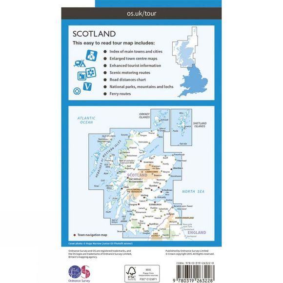 Ordnance Survey Scotland Tour Map V16