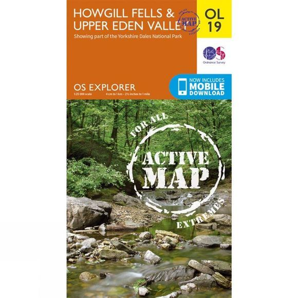 Ordnance Survey Active Explorer Map OL19 Howgill Fells and Upper Eden Valley V17