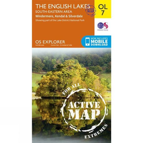 Active Explorer Map OL7 The Lake District - South-Eastern Area