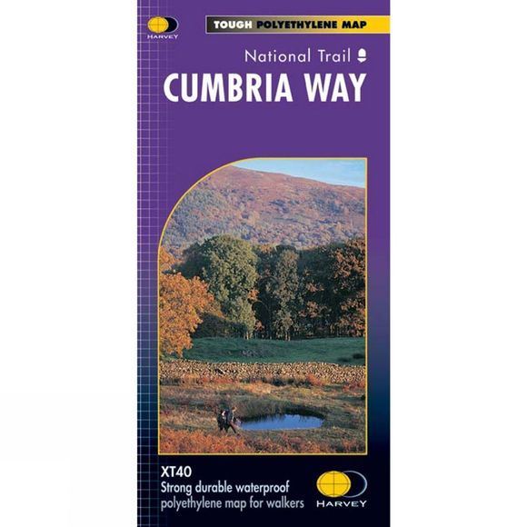 Harvey Maps Cumbria Way Map 1:40K No Colour