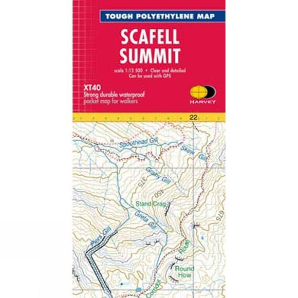 Harvey Maps Scafell Summit Map 1:12.5K No Colour