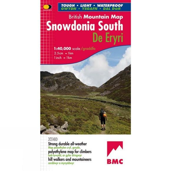 Harvey Maps Snowdonia South British Mountain Map 1:40K No Colour