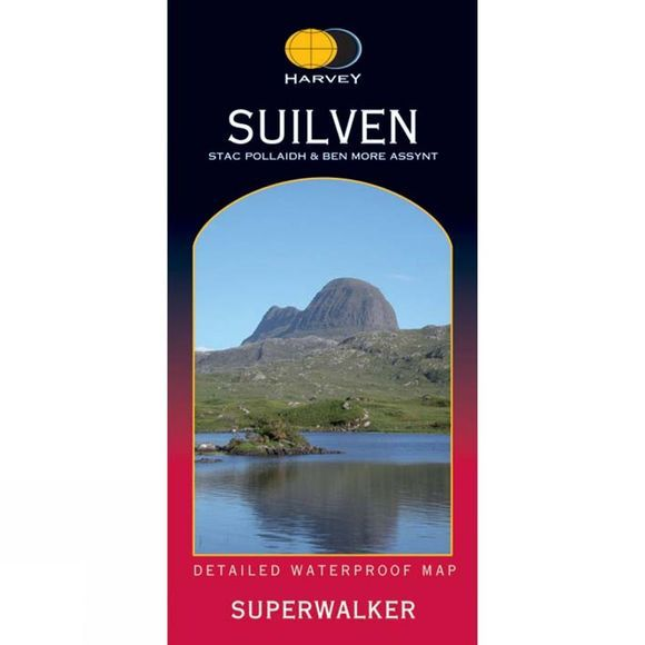 Harvey Maps Suilven Map 1:25K No Colour