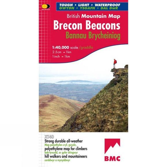 Brecon Beacons British Mountain Map 1:40K