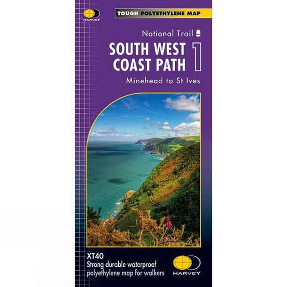 South West Coast Path 1 Map 1:40K
