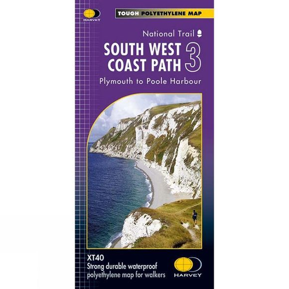 Harvey Maps South West Coast Path 3 Map 1:40K V15