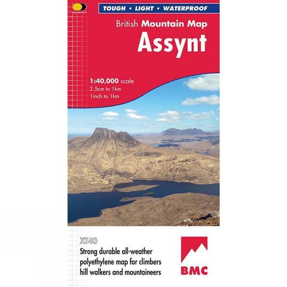 Harvey Maps Assynt British Mountain Map 1:40K 1st Edition