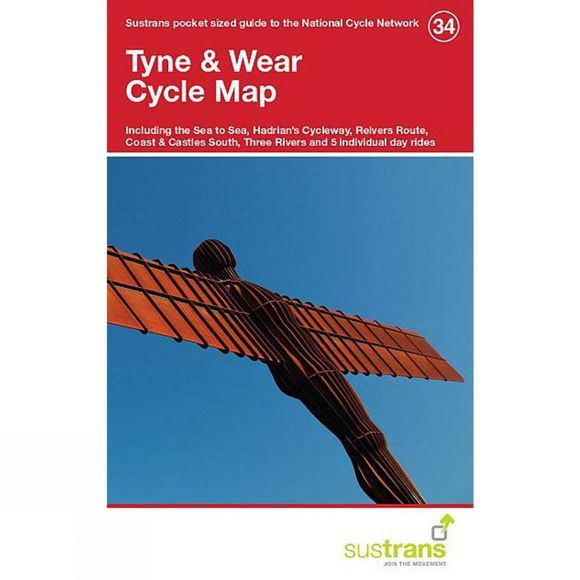 Sustrans Tyne & Wear Cycle Map 34 1st Edition