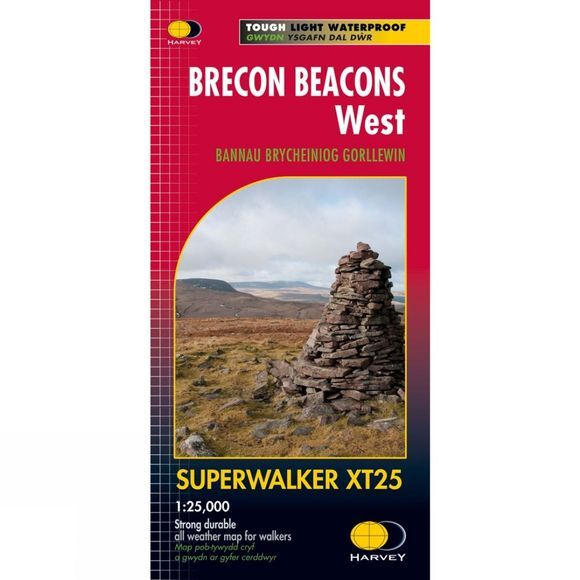 Harvey Maps Brecon Beacons West - Superwalker XT25 Map No Colour