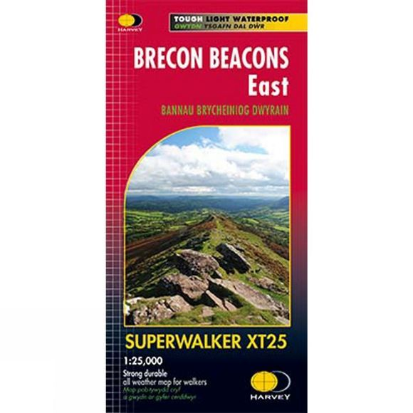 Harvey Maps Brecon Beacons East Map 1:25K 2016