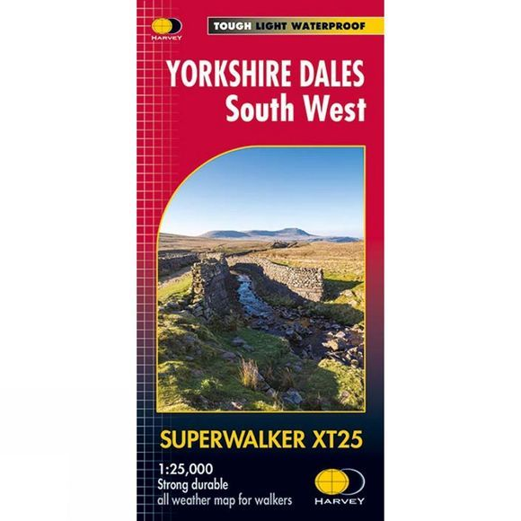 Yorkshire Dales South West Superwalker Map 1:25K