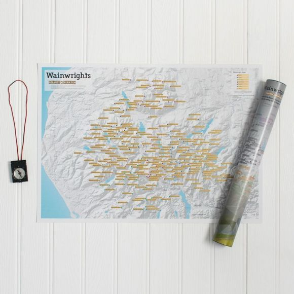 Wainwright Summits Collect & Scratch Map