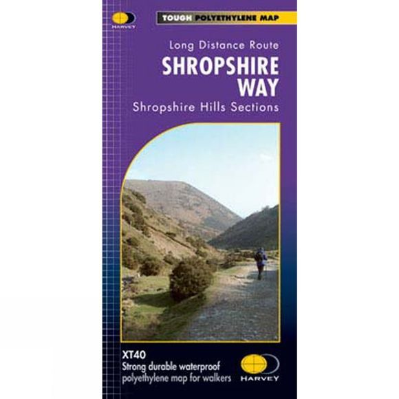 Shropshire Way National Trail Map 1:40K