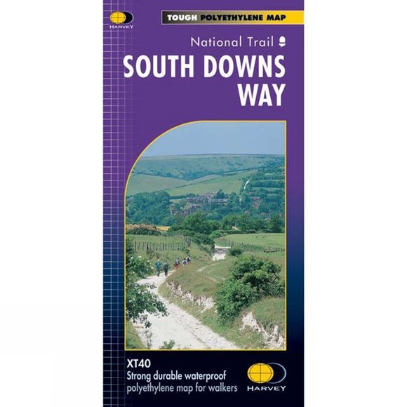 Harvey Maps South Downs Way Map 1:40K No Colour