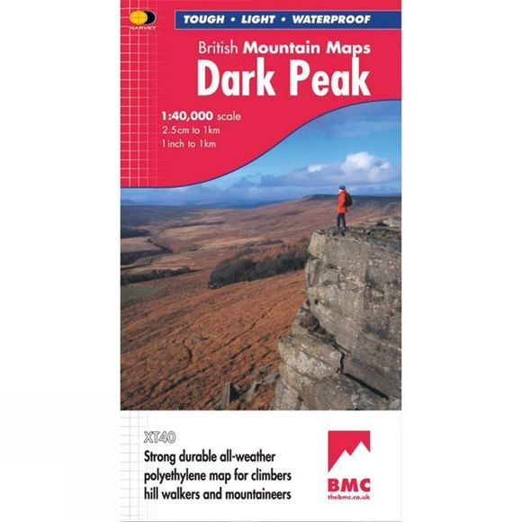 Dark Peak British Mountain Map 1:40K