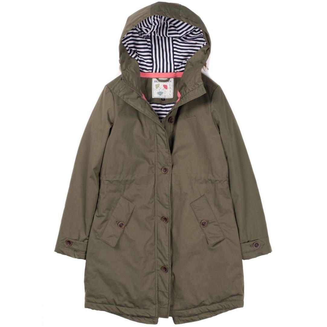 Brakeburn Size 14 Teal Dandelion Print PARKA Jacket £115 Casual Fab Winter